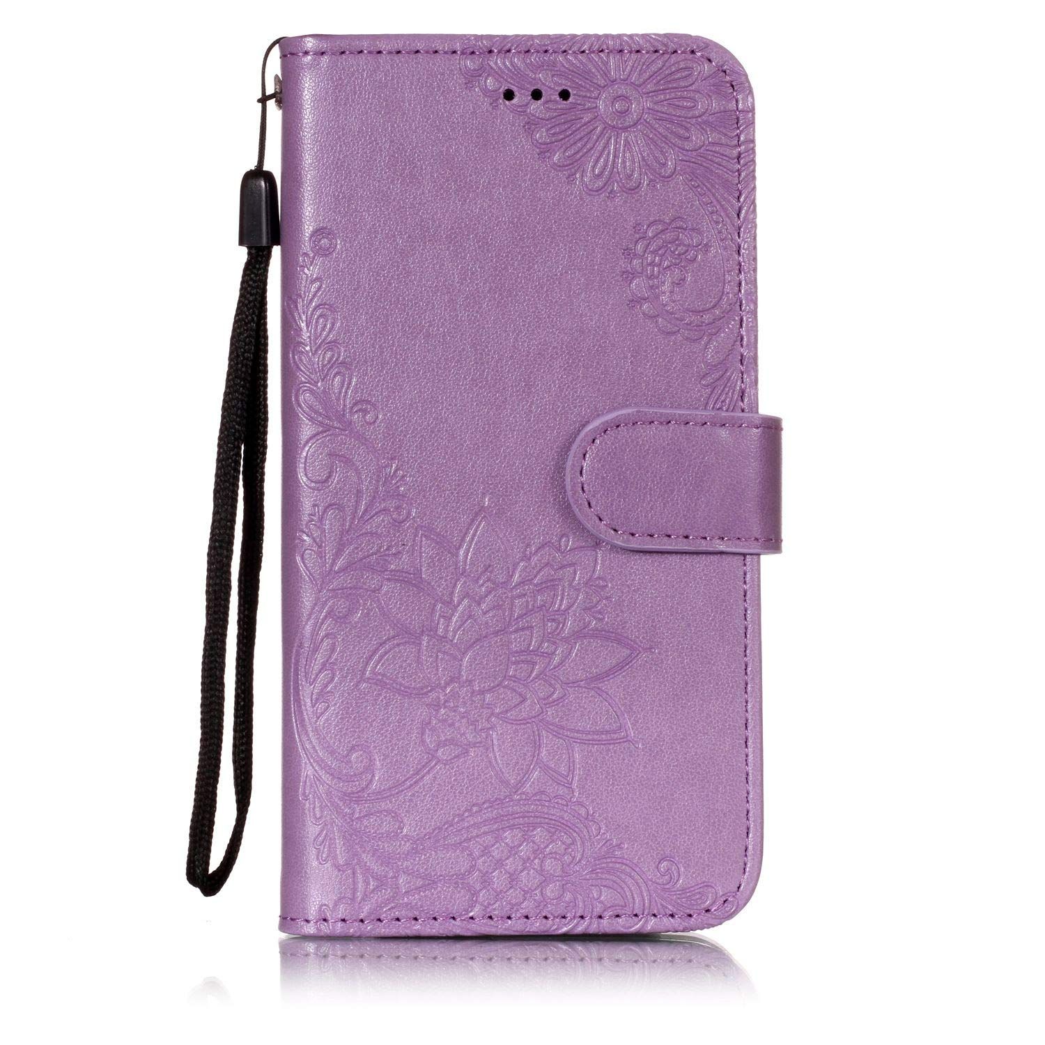 AIIYG DS,LG Aristo 2 Case,LG Tribute Dynasty/Zone 4 Wallet Case,Classic 3D Mandala Pattern [Kickstand Feature] Flip Folio Leather Wallet Case with ID and Credit Card Pockets for LG K8 2018/Purple