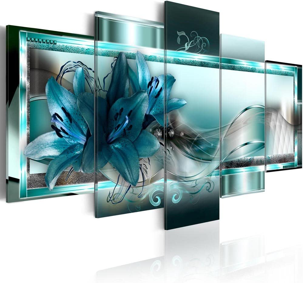 Canvas_Art_Design_2015 Home Decor Abstract Flower Wall Art Canvas Print Pictures for Living Room (A1, 20x30cmx2,20x40cmx2,20x50cmx1)