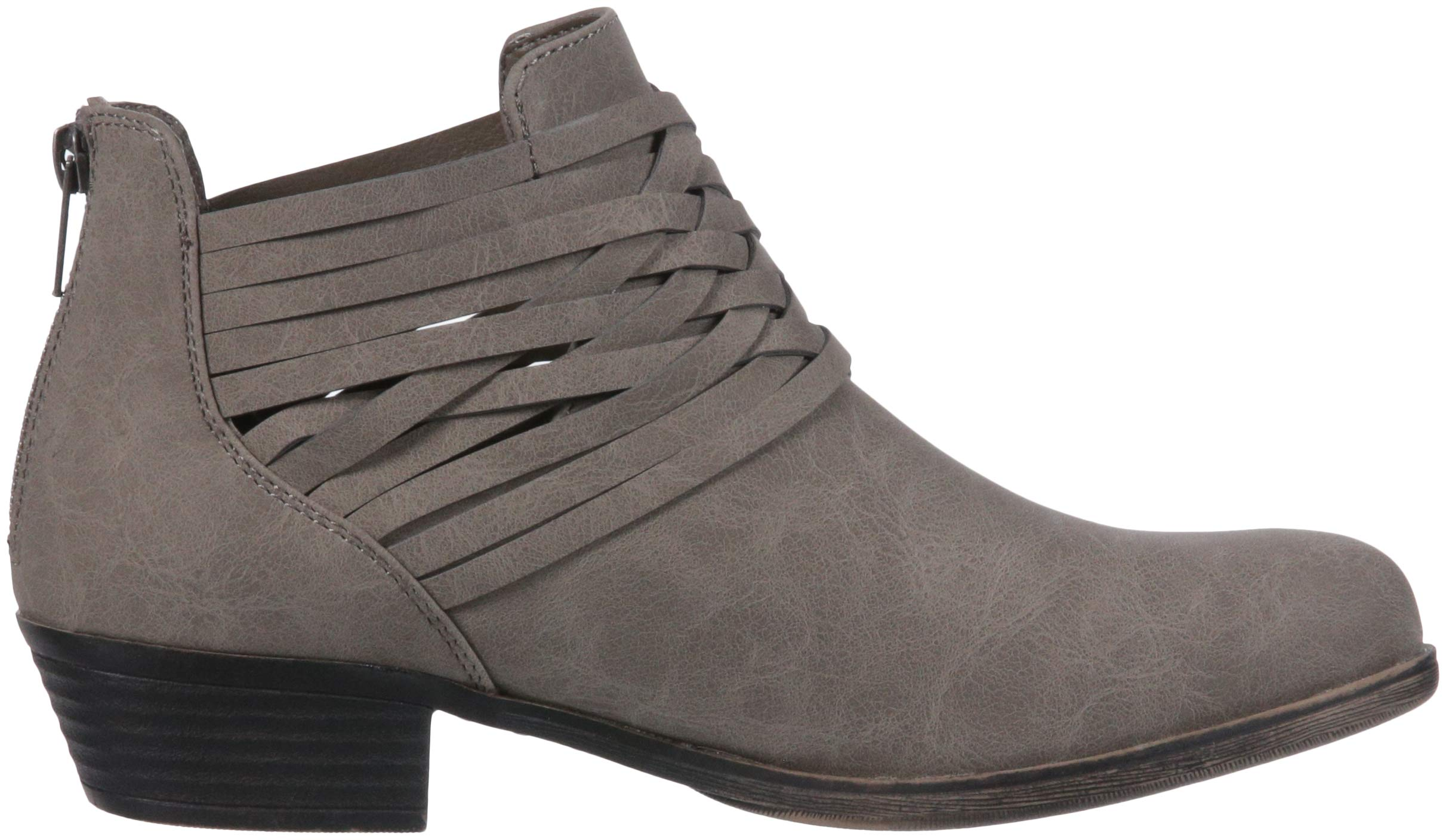 Sugar Women's Rhett Casual Boho Short Bootie with Criss Cross Straps Ankle Boot, Grey Distressed, 9 Medium US by Sugar (Image #7)