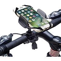 Degbit Fahrrad Handyhalterung, Universal Fahrradhalterung mit Silikonhalterung,Stabile Handy Halterung Halter für Smartphone Wie GPS, iPhone 7/6,Samsung Galaxy S8/ S7 / S6 Edge,Huawei P9/ P10 usw.