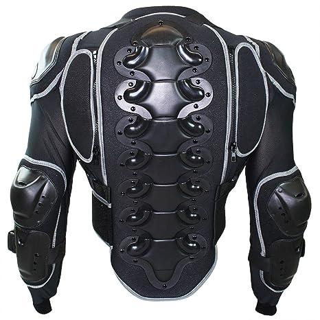 German Wear Chaqueta Protector para Moto, Negro, L