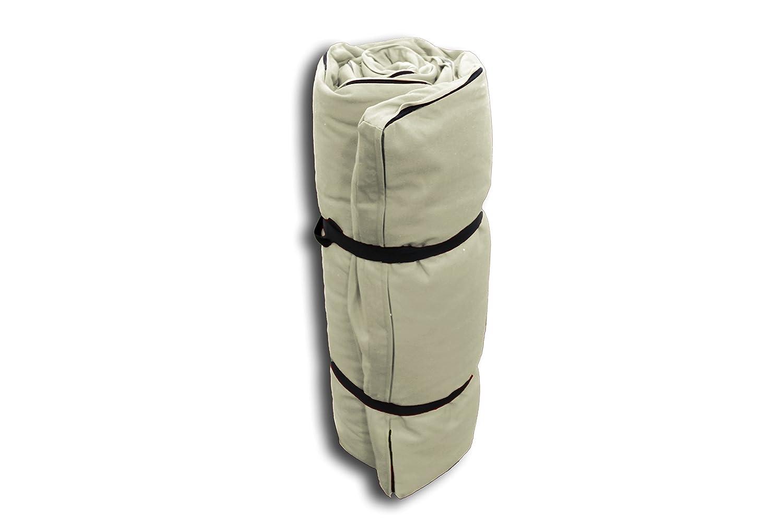 Futon Portable Blanc Écru - 200x80x3 cm