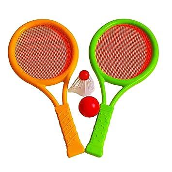 VORCOOL Conjunto de raquetas de bádminton para niños, raquetas de tenis de plástico Conjunto de bádminton ...