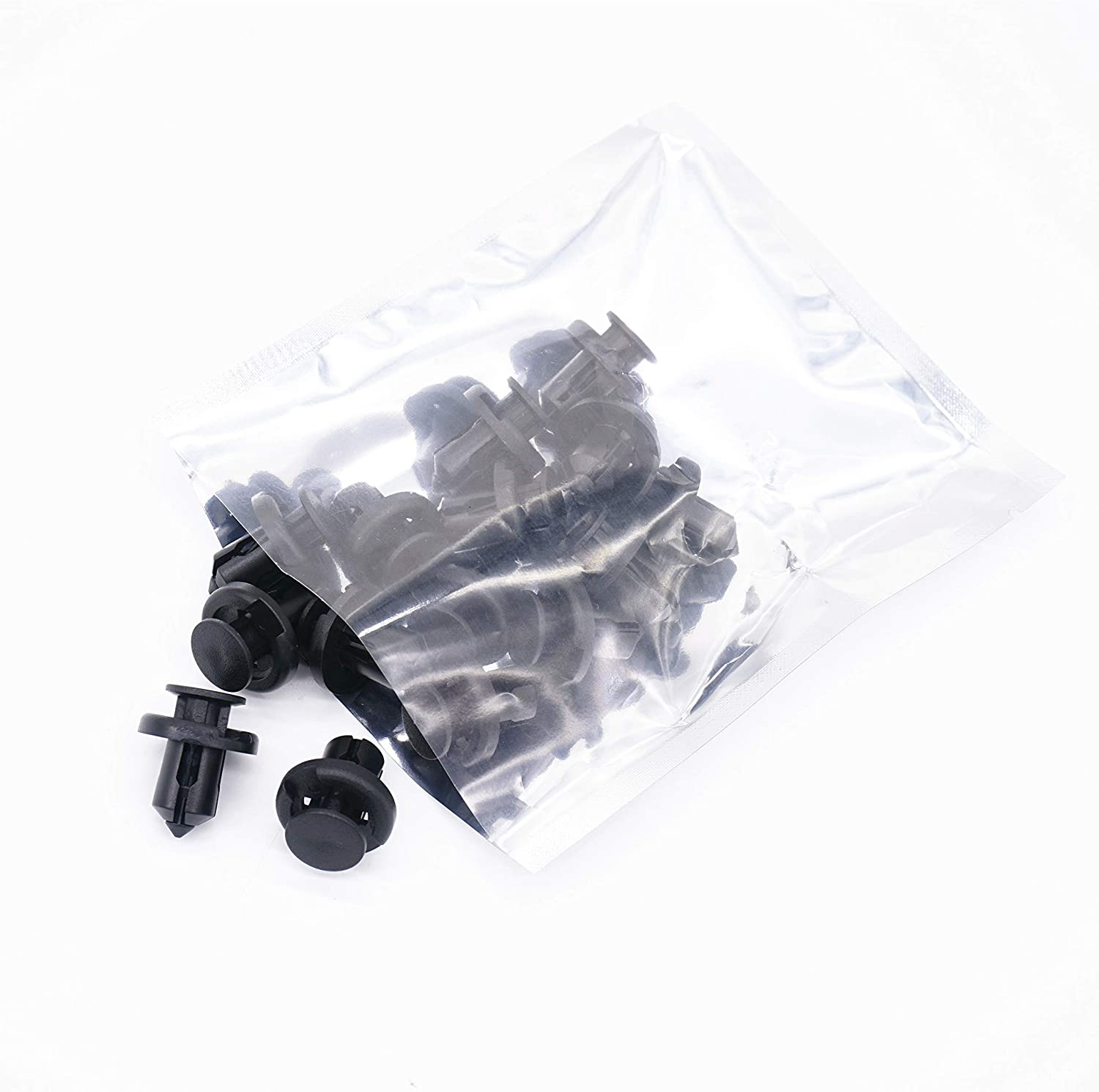 Replaces #91503-SZ3-003 91503SZ3003 Engine Splash Guard Shield Front Fender Inner Liner Clips Pins Fasteners Rivets for Honda Acura Odyssey CRV Accord Civic Front Bumper Cover Retainer Clips 15pcs Vautoparts