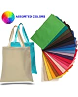 (12 Pack) 1 Dozen - Promotional Canvas Tote Bags by ToteBagFactory
