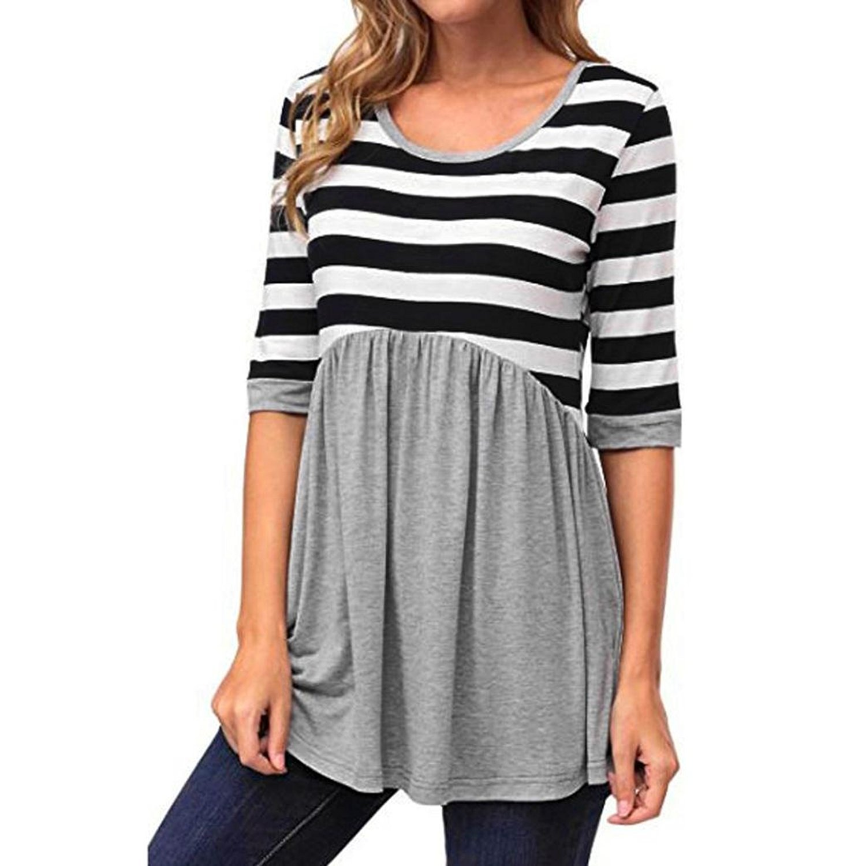 Fulltime(TM) Women Stripe Casual Print Blouse for Fall YXP70831642