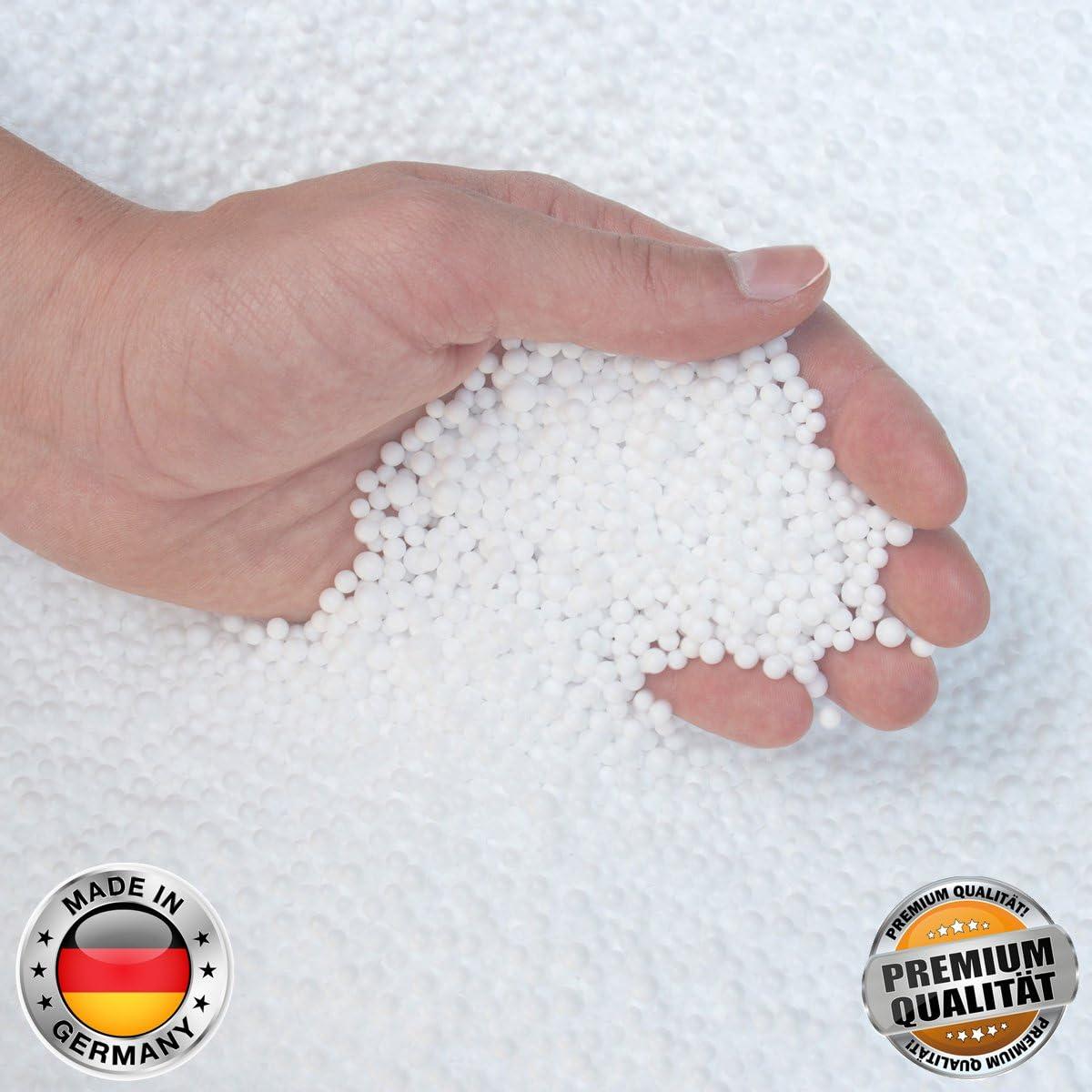 HDI Orginal Deutsche Marken EPS Perlen//Styropork/ügelchen Premium Qualit/ät bestens geeignet f/ür sehr Hochwertige Sitzs/äcke 1 Liter