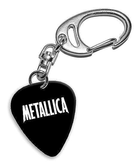 Metallica Band Logo Llavero de púa de guitarra (H): Amazon ...