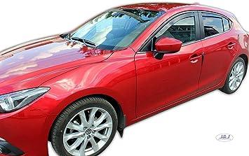 J/&J AUTOMOTIVE Windabweiser Regenabweiser f/ür Mazda 3 I 5-t/ürer 2003-2009 4tlg HEKO dunkel