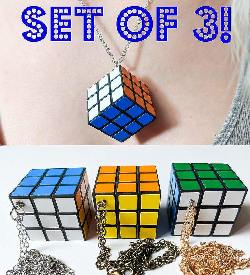 Amazon.com: Mini puzle rubí cubo collar totalmente funcional ...