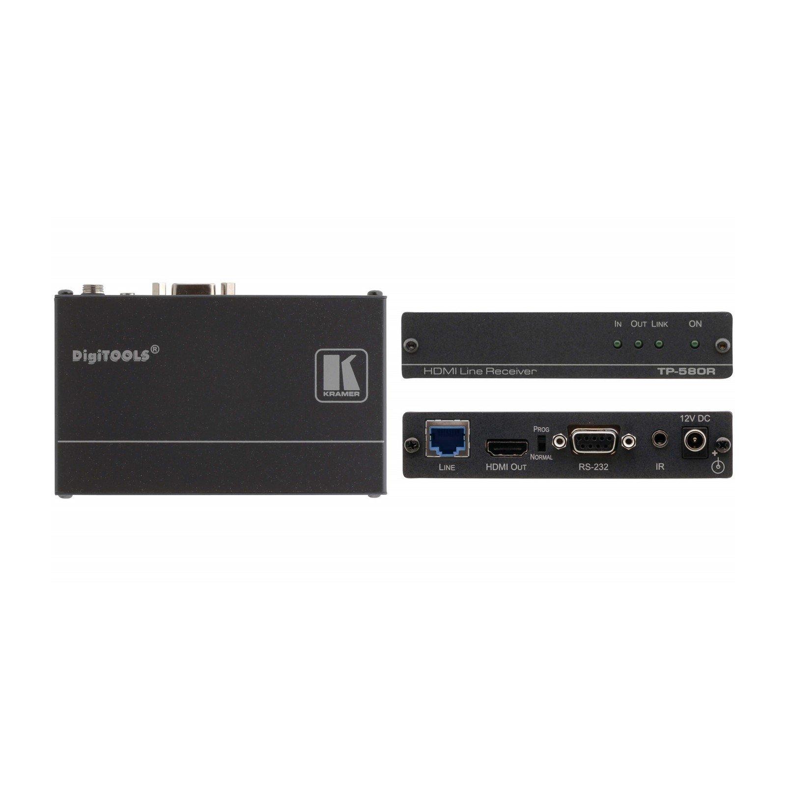 Kramer TP-580R | 4K UHD HDMI IP over Twisted Pair HDBaseT Receiver