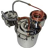OLizee 8 Gal Stainless Steel Water Alcohol Distiller Copper Tube 30L Moonshine Still Spirits Boiler Home Brewing Kit with Thumper Keg