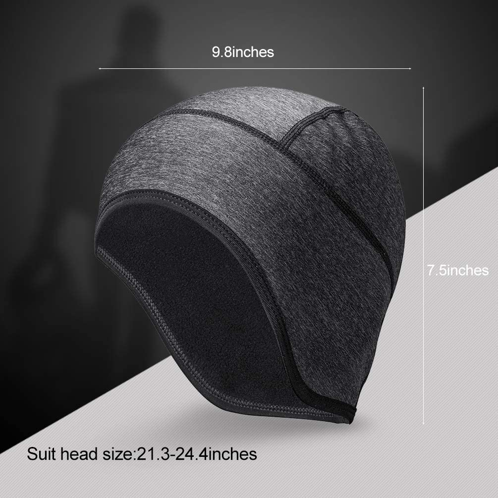 RockBros Cycling Winter Cap Thermal Fleece Outdoor Sports Hat Black One Size