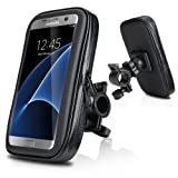 Waterproof Bike Mount, Wotek Universal Waterproof Case Bike Mount Holder Compatible with Smartphones with 5.2 to 5.8 inch Displays For iPhone 6s /6 Plus, Samsung Galaxy S7 /S6 EDGE, Samsung Galaxy S7 S6 S5, HUAWEI P9 P8, LG G5 G4, Samsung Galaxy S8 (5.2''-5.8'')