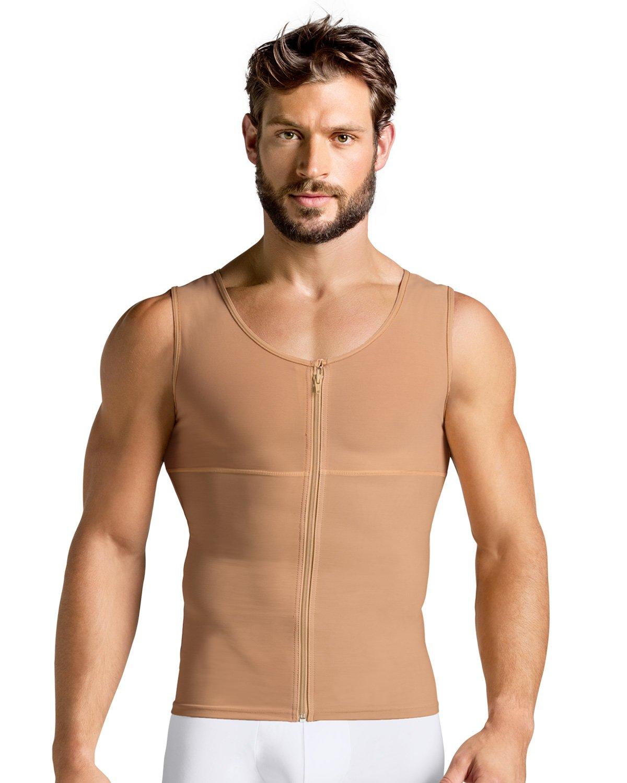 Leo Torso Toner - Full Compression Men Shaper - Nude, L