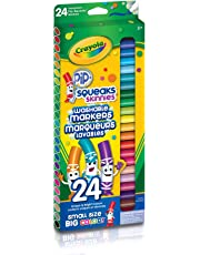 Crayola 24 Pip-Squeaks Skinnies Fine Line Washable Markers, School and Craft Supplies, Gift for Boys and Girls, Kids, Ages 3,4, 5, 6 and Up, Holiday Toys, Stocking , Arts and Crafts,  Gifting