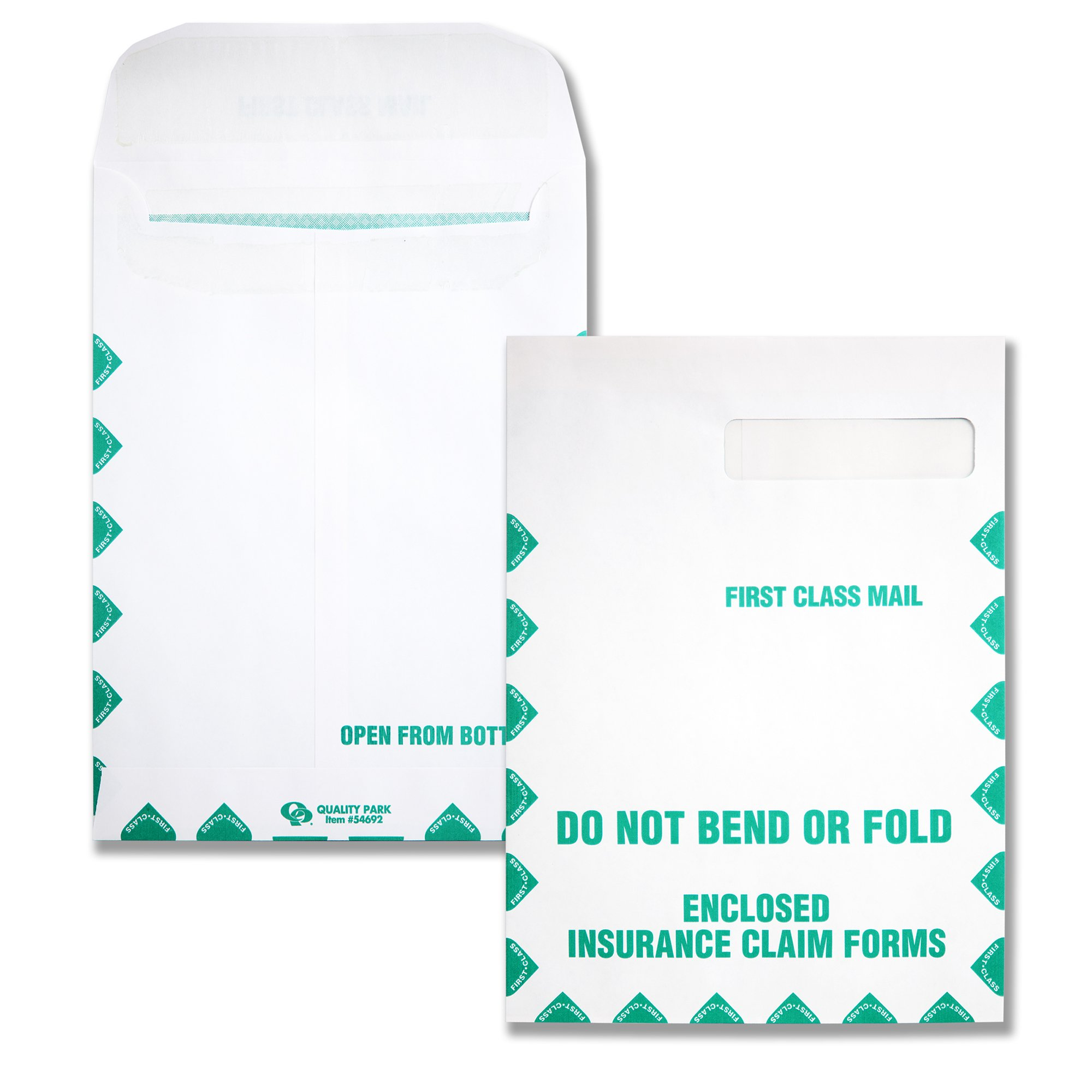 Quality Park, HCFS-1508 Window Envelopes, Redi-Seal, First Class, White, 100 per Box,(54692) by Quality Park