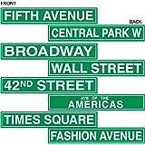 Beistle 50094 4-Pack NYC Straßenschild Ausschnitte, 4-Zoll von 24-Zoll