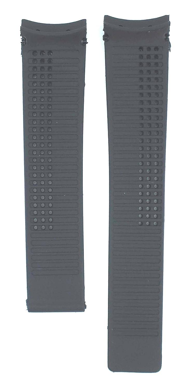20 mmブラックゴム時計ストラップfor Carrera ft6007 – ft6014 cv2015 Watches tag126  B0796SMRQL