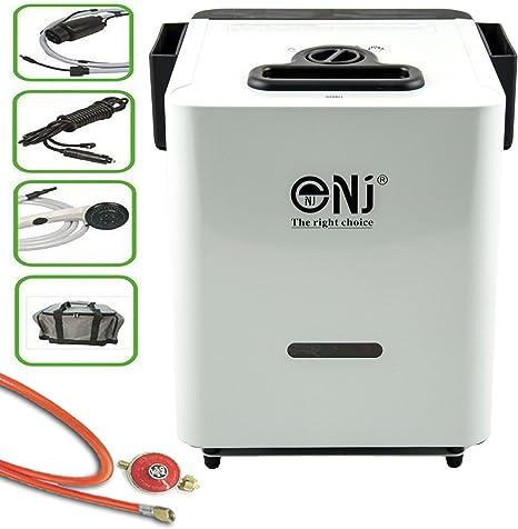 J + N – Calentador de gas propano portátil, 5,5 Kw, caldera de agua de caldera, incluye juego de tubo de gas y regulador