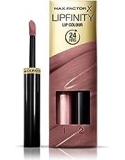 Max Factor Lipfinity Lip Colour, 2-step Long Lasting Lipstick, Glowing 4.2ml