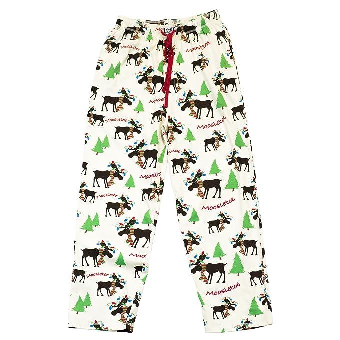 LazyOne Unisexo Moosletoe Pijama Pantalones Adulto L: Amazon.es: Ropa y accesorios