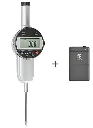 Reloj comparador digital con USB Interface para transferencia de datos, rango de medición 0 –