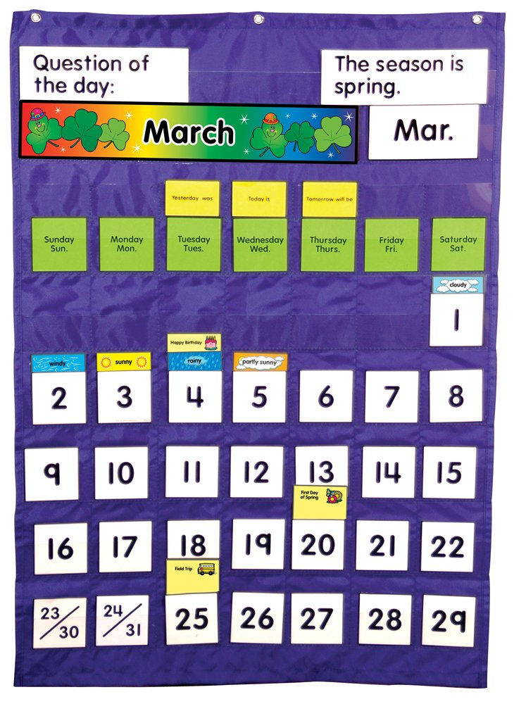 Carson Dellosa CDPCD158003 Complete Calendar and Weather Pocket Chart Pocket Chart (158003)