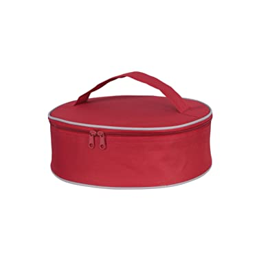 KAF Home INS 15738 Harold Import Co RED Pie Carrier, 3.5  x 11.5  x 10.75
