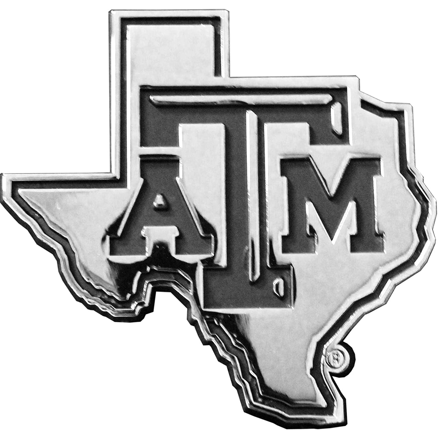 Texas A/&M Aggies State ATM Solid Metal Auto Emblem