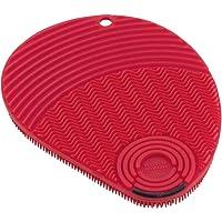 Kuhn Rikon 28040 3'ü 1 arada Stay Clean silikon sünger, kırmızı, silikon, 13 x 10 x 1,2 cm