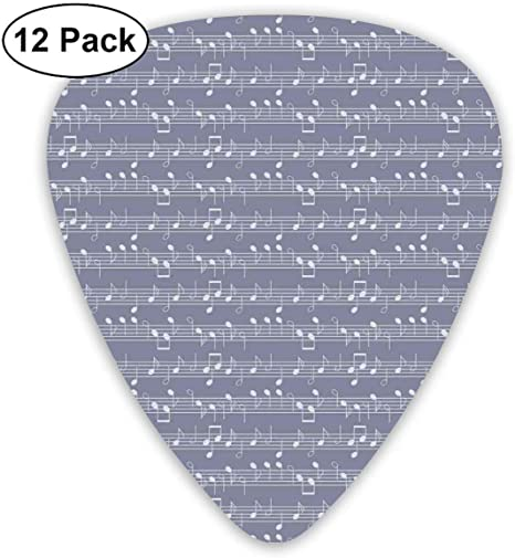 Púas de guitarra - Paquete de 12, Piano Music Motivo de arcilla ...