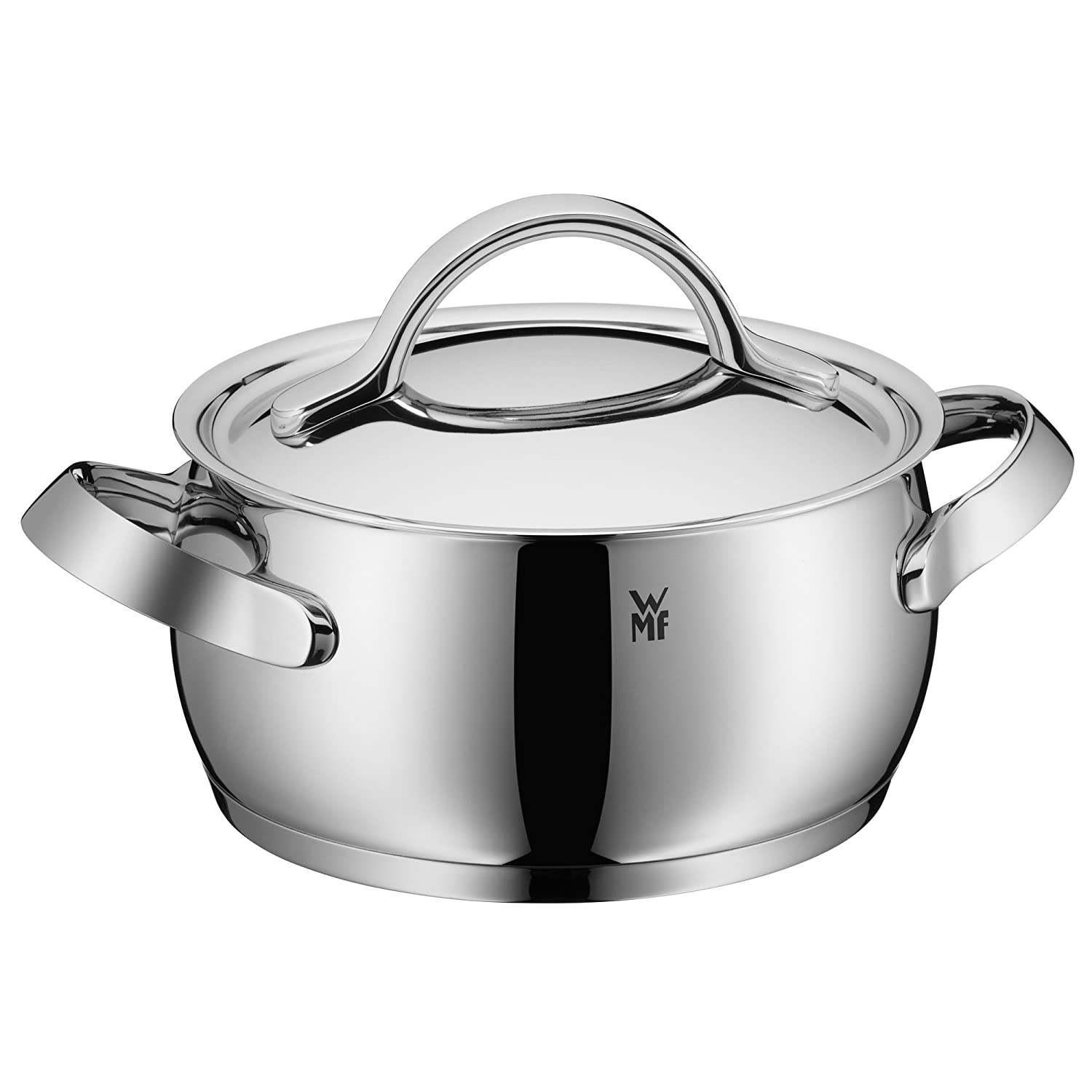 WMF Cookware Set 4 Piece Concento Inside Scaling Vapor Hole Made In Germany  Hollow Side Handles Metal Lid Cromargan Stainless Steel Brushed Suitable  For All ...