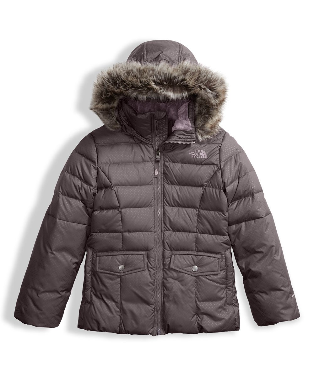 The North Face Big Girls' Gotham 2.0 Down Jacket - rabbit grey, l/14-16 by The North Face (Image #1)