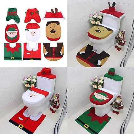 Set Bagno Babbo Natale.Bagno Accessori E Tessuti Decorazione Natalizia Natale Casa Bagno