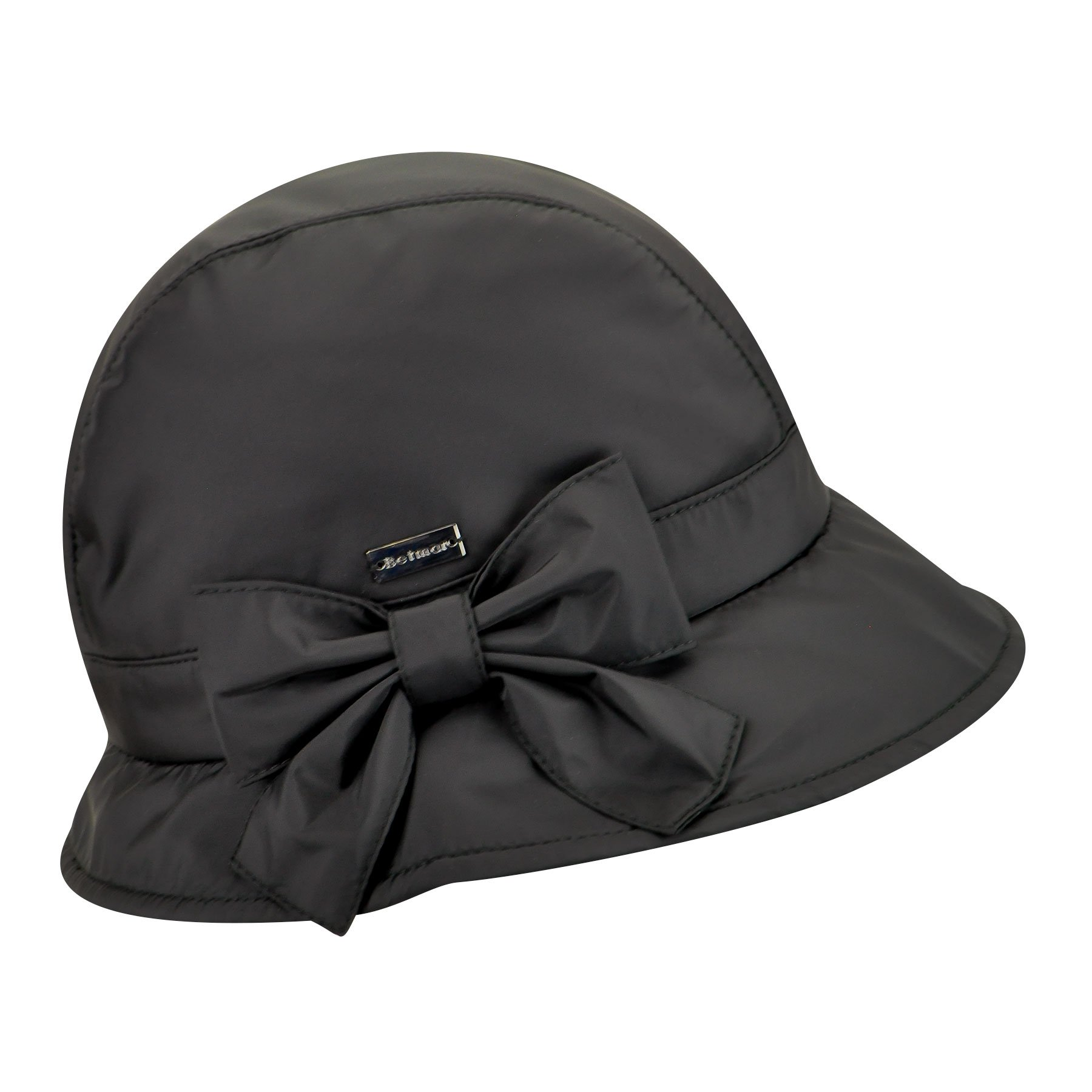 Betmar Women Maggie Nylon Cloche Black One Size Fits Most