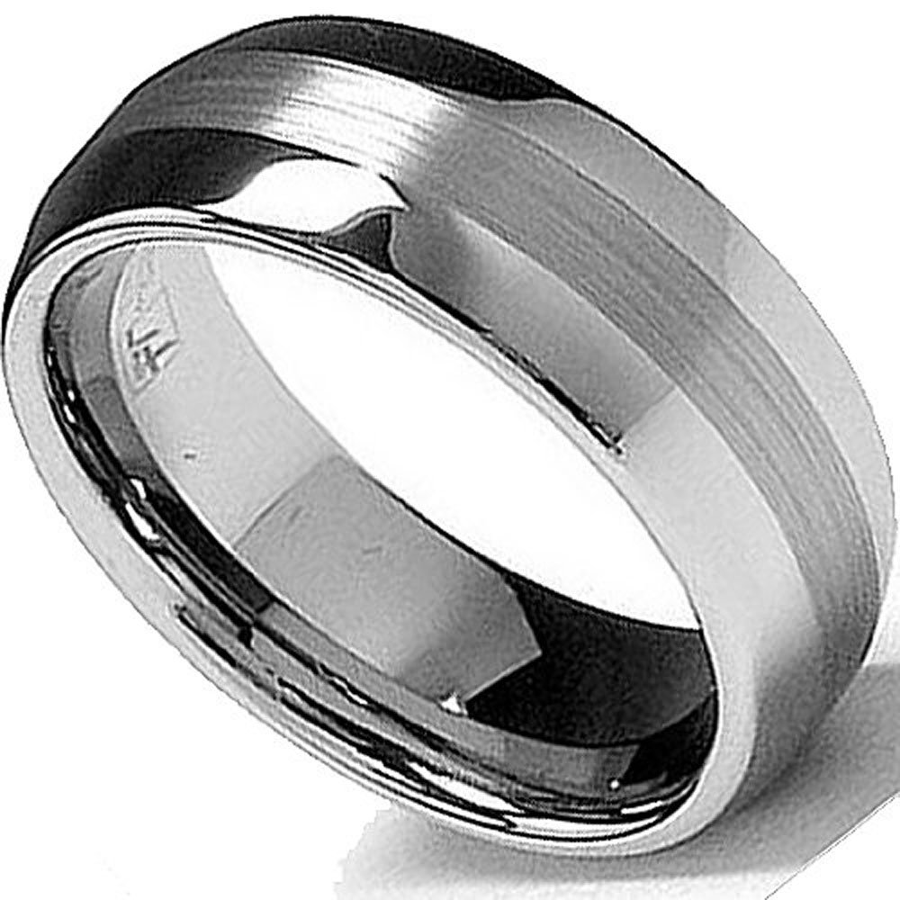 925 Sterling Silver 6mm Wedding Ring Band Size 8 Fancy Classic Beveled Edge Easy To Repair Fine Jewelry