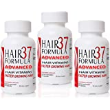 Hair Formula 37 ADVANCED for Women 3 bottles Fast Hair Growth Vitamins Easy To Swallow Capsules 3 month Optimum amount of Biotin and MSM