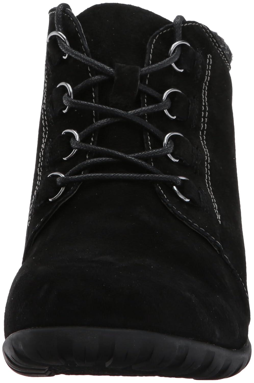 Propet Women's Delaney Ankle Bootie B01N9RJZVO 7 4E|Black Suede