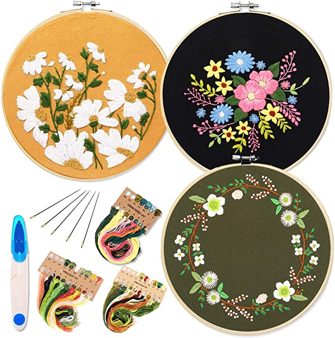 Home decor stitch kit Field Plant Peony Flower tapestry embroidery set 40 x 50 cm include multi-thread cotton thread Bordado con aguja 5D HD cod.052