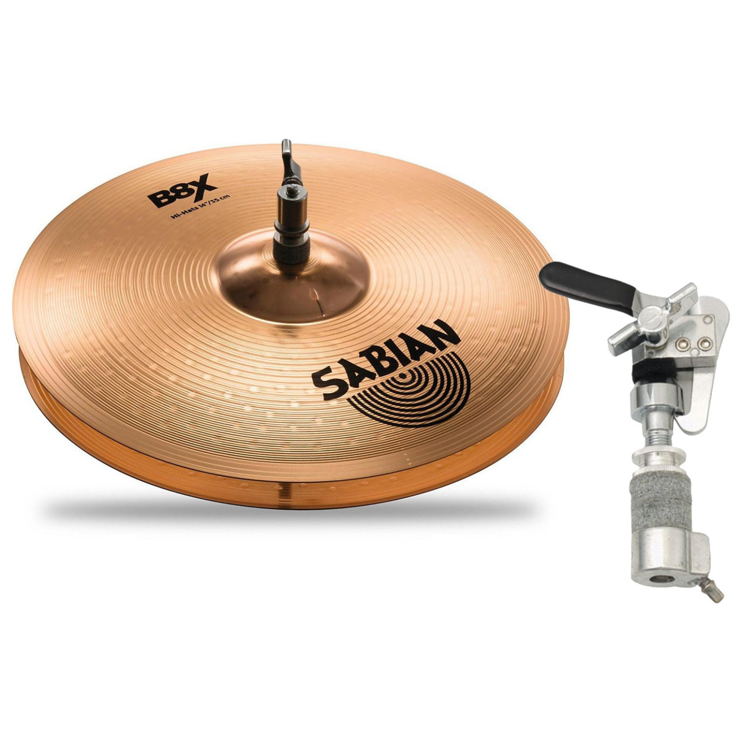 Sabian 41402X 14'' B8X HI HATS w/ Hi-Hat Drop Clutch by Sabian