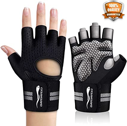 Professional Ventilated Weight Lifting Gym Workout Glove with Wrist Wrap Support
