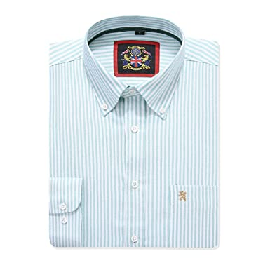 Janeo British Apparel - Camisa Casual - Button Down - Liso - con ...