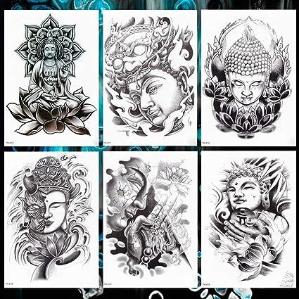 KAMRL Tatuaje Falso Tatuaje Amabilidad Sabiduría Buda Sakyamuni ...