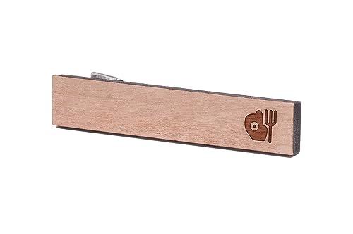 Huevo y tenedor, madera de corbata Tie Bar: Amazon.es: Joyería