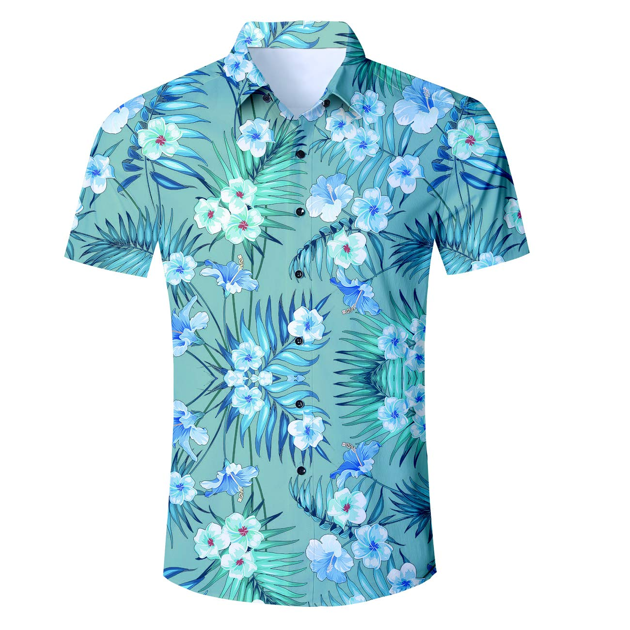 49db45cd Featured with all over 3D hawaii print pattern,button down closure, short  sleeves shirt. the trendy vibrant color and the hawaiian aloha ...