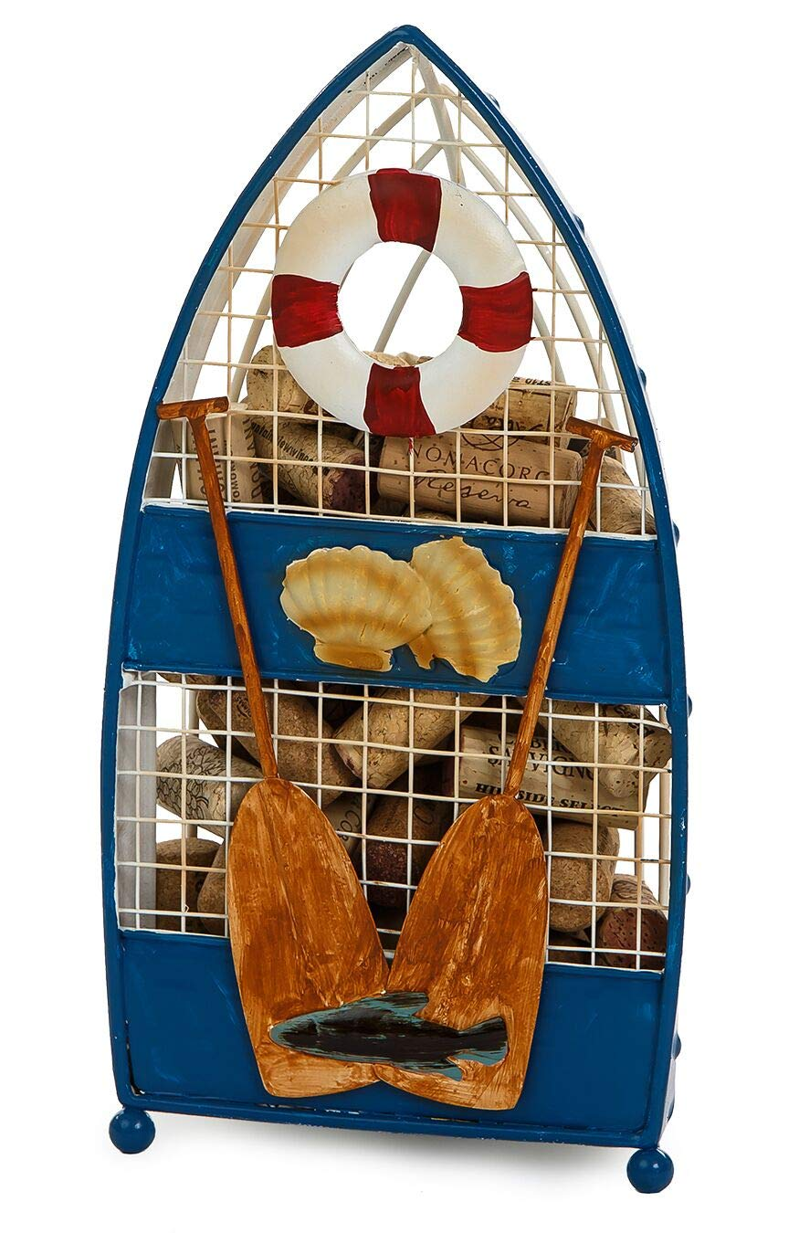 Rowboat Cork Holder Cork Collector Cork Caddy Displays And Stores Wine Corks by Picnic Plus (Rowboat) by Picnic Plus