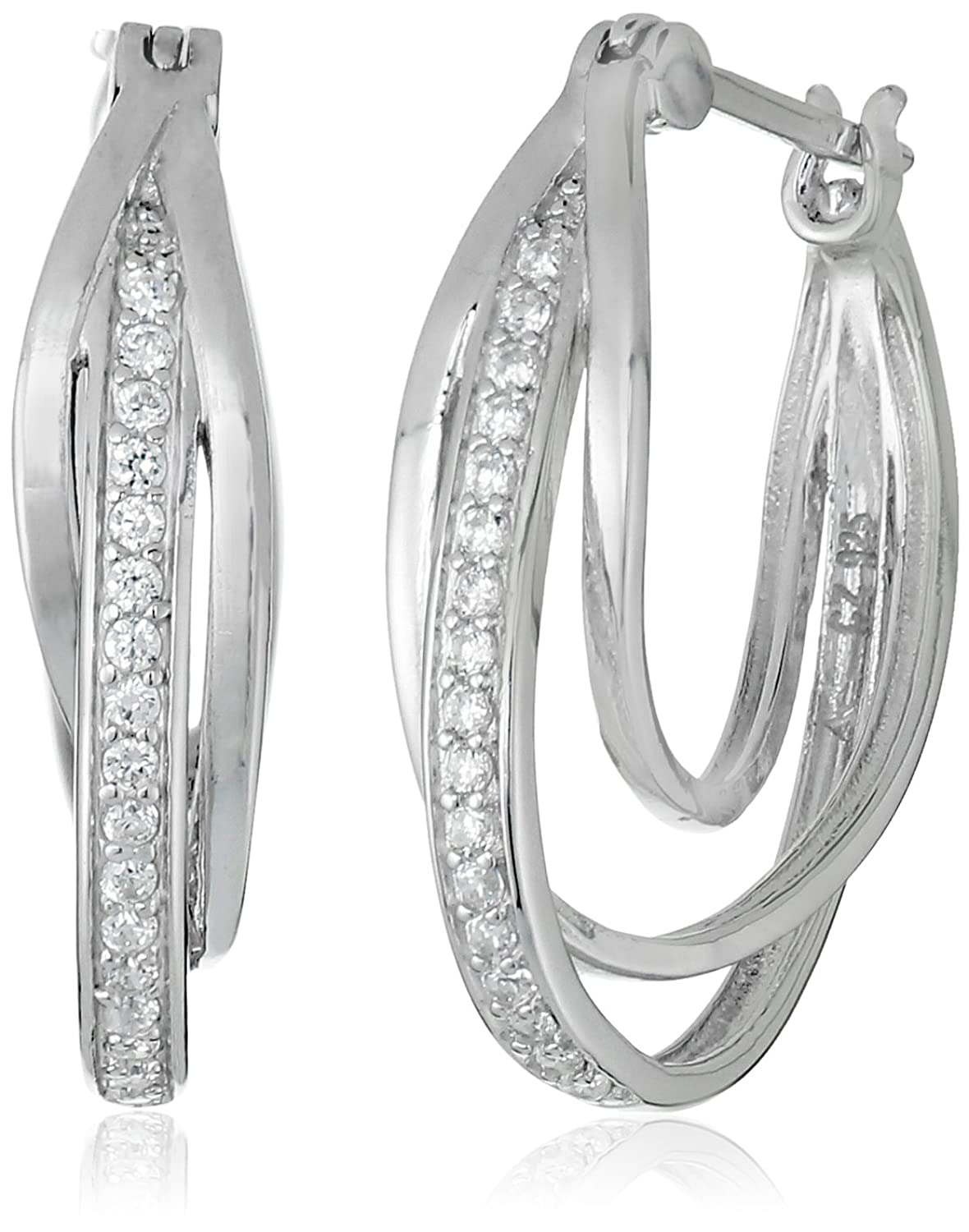 earring nl reviews design platinumsterling jewelry spiral rope platinum twisted hoop hoops fascinating diamonds sterling silver wg shaped in earrings