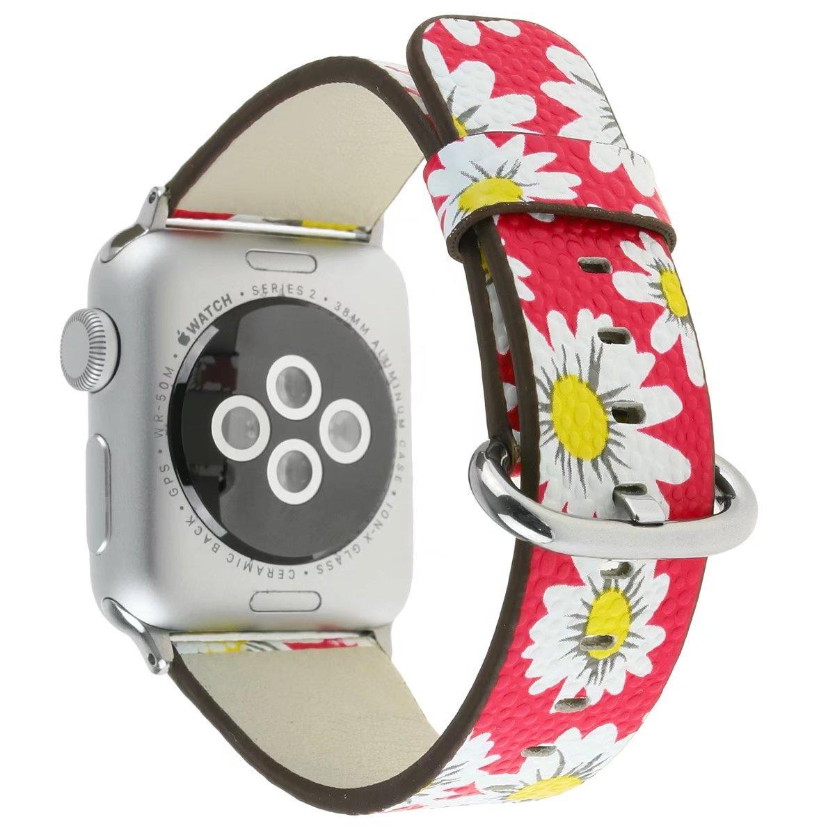 Para Apple Watch Band 38 mm, iWatch Correa de cuero impreso ...
