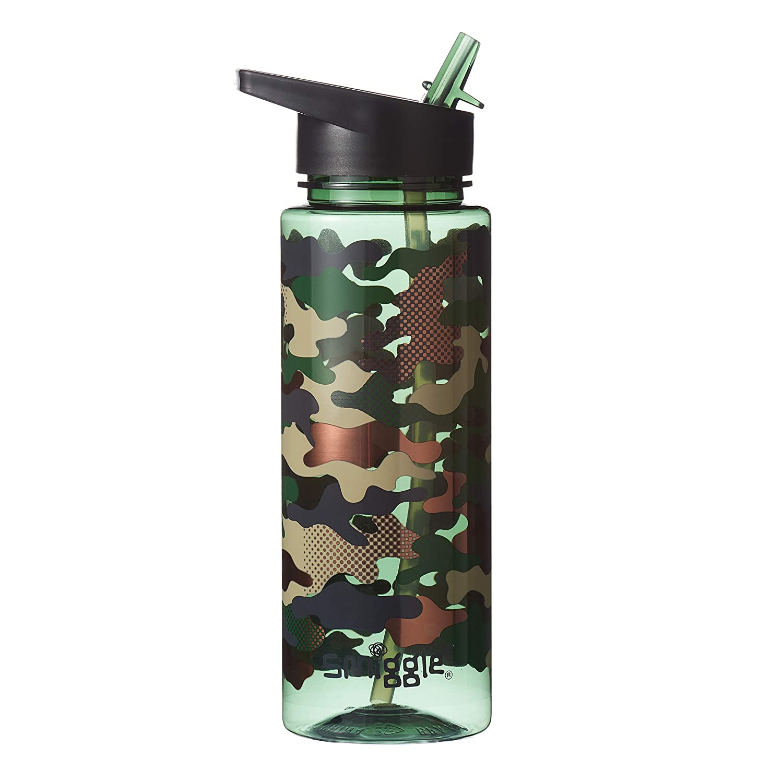 Smiggle Botella de Agua Infantil Reutilizable de la Colecci/ón Block para Ni/ños y Ni/ñas con Boquilla de Tapa y Capacidad de 750 ml Azul Marino